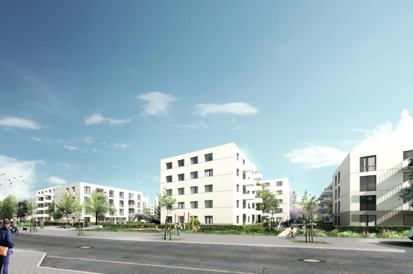 """BATEG Partnering: Wohnquartier """"Anne-Frank-Straße"""" für die HOWOGE in Berlin-Altglienicke (Visualisierung: ZOOMARCHITEKTEN)"""