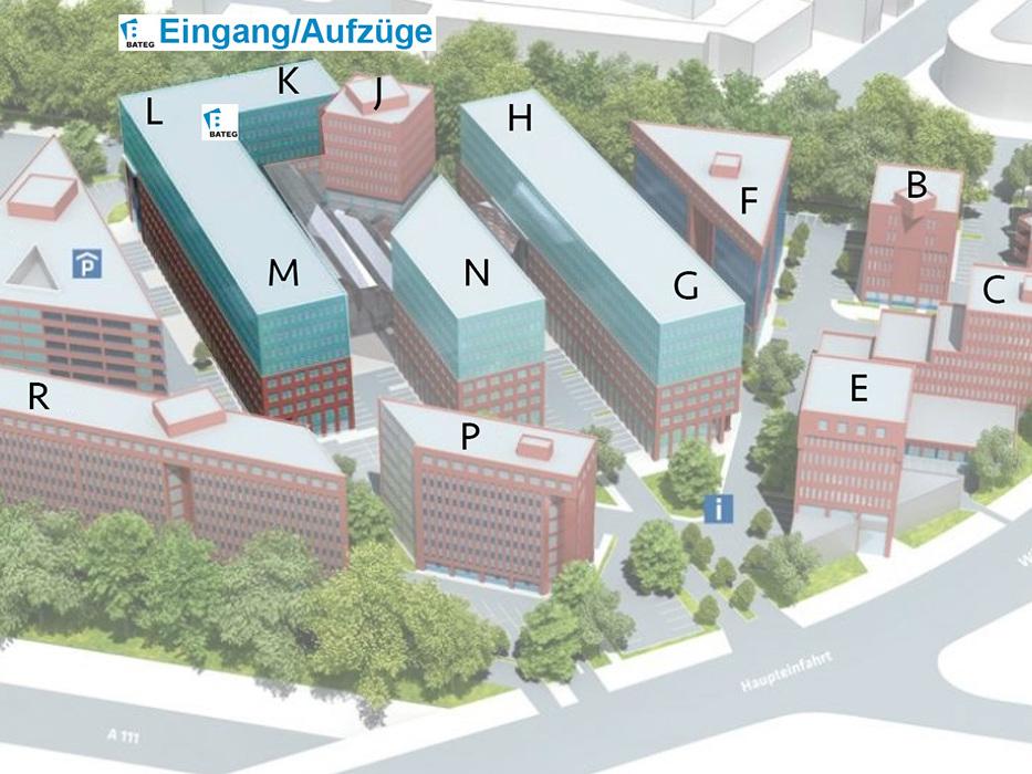 Lageplan BATEG-Bürogebäude TOP TEGEL