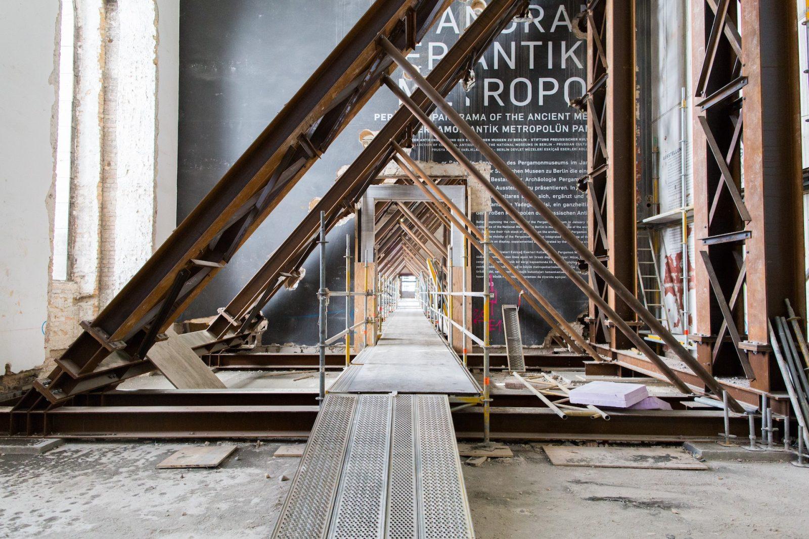 Sanierungsarbeiten im Pergamon-Museum auf der Berliner Museumsinsel