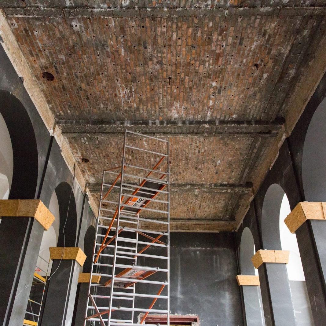Baustelle Sanierung Pergamon-Museum auf der Berliner Museumsinsel