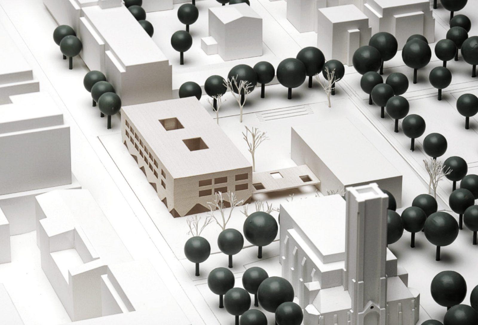 Neubau der Grundschule Pufendorfstraße in Berlin Friedrichshain-Kreuzberg: Wettbewerbsmodell NAK Architekten