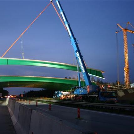 Neubau einer Grünbrücke über die Autobahn A13 bei Teupitz (Brandenburg)