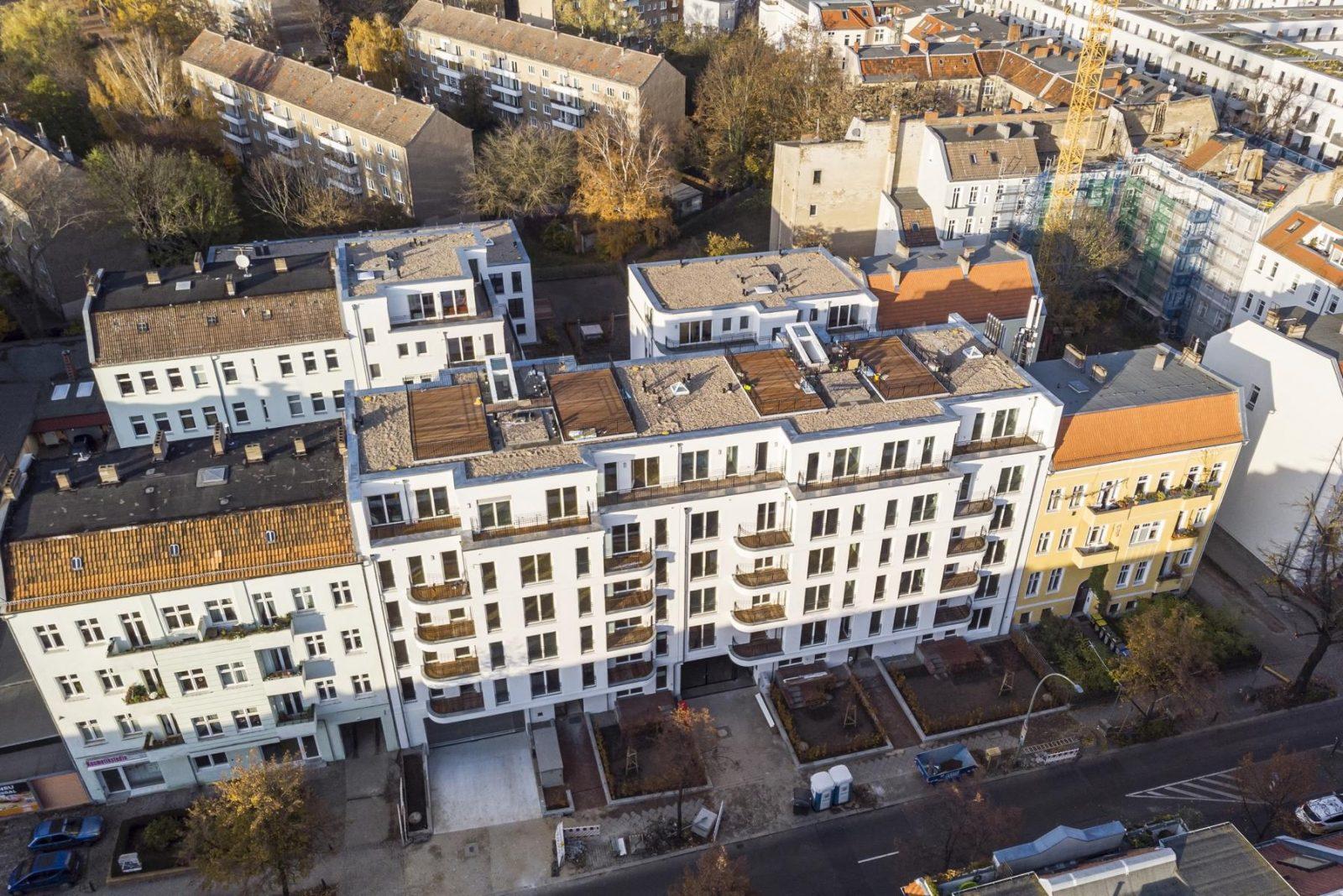 Gesamtansicht der Wohnanlage Wilhelms-Quartier, Damerowstraße (Berlin-Pankow)